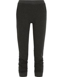 ATM Anthony Thomas Melillo French Cotton Blend Terry Slim Leg Pants Black