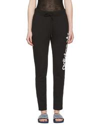 adidas Originals Black Logo Track Pants