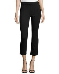 Tory Burch Stacey Ponte Cropped Pants Black