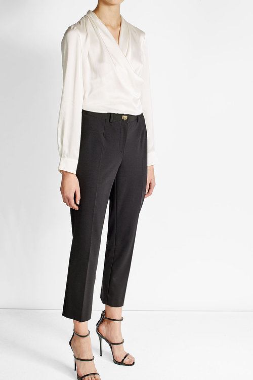 Salvatore Ferragamo Straight Leg Cropped Pants