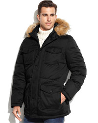 Tommy Hilfiger 4 Pocket Snorkle Parka With Faux Fur Hood