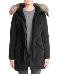 Aredhel hooded down parka with removable genuine fox fur trim medium 840960