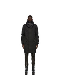 Rick Owens Black Cotton Parka