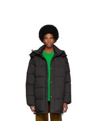 Kenzo Black Down 2 In 1 Long Puffer Jacket