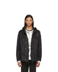 Givenchy Black Military Parka