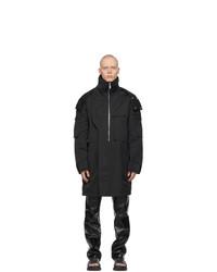 Givenchy Black Oversized Ottoman Parka Coat