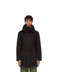 Ten C Black The Parka Coat