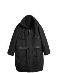 Burberry Bonded Technical And Cotton Twill Parka