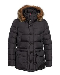 Moncler Cluny Giubbotto Down Parka With Genuine Coyote