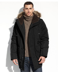 Tommy Hilfiger Coat Faux Fur Hooded Snorkle Performance Parka
