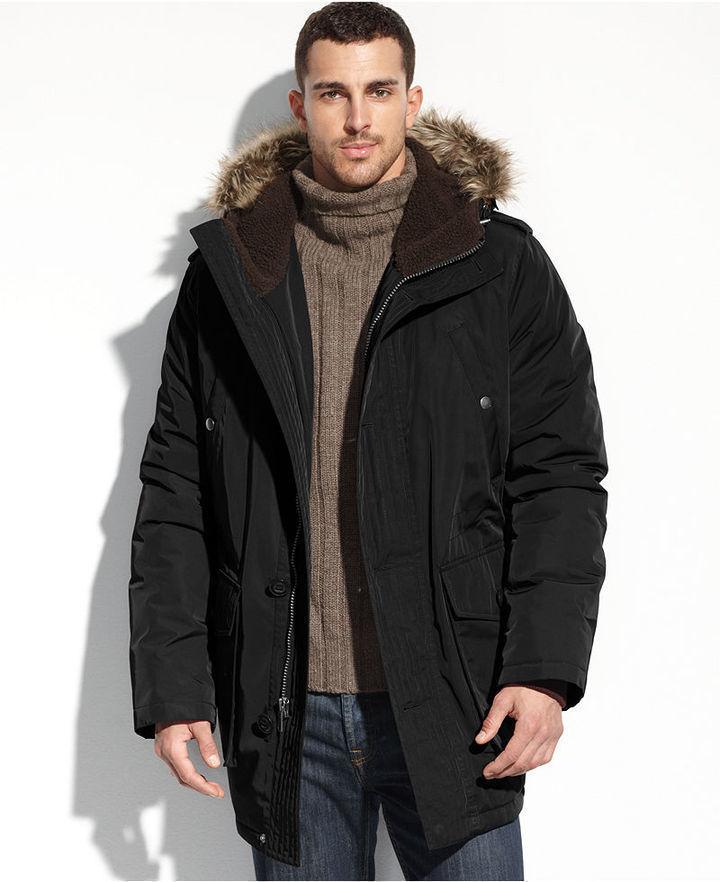 tommy hilfiger denim fur hooded parka jacket