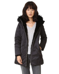 Down down parka with fur medium 794412