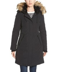 Vince Camuto Down Feather Fill Parka With Faux Fur Trim