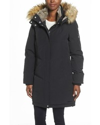 Vince Camuto Down Feather Fill Parka With Faux Fur Trims