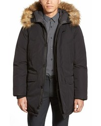 Vince Camuto Down Feather Parka With Faux Fur Trim