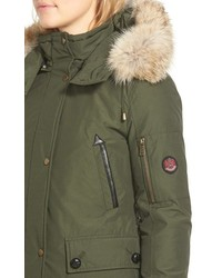 Parka with coyote fur