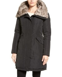 Vince Camuto Faux Fur Trim Hooded Down Feather Parka