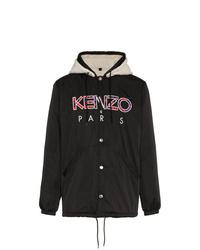 Kenzo Faux Shearling Hooded Jacket