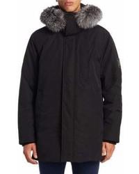 Madison Supply Fox Fur Trim Down Parka