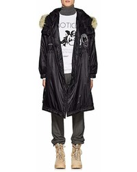 Undercover Graphic Faux Fur Trimmed Oversized Parka