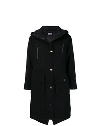 Karl Lagerfeld Hooded Oversized Parka Coat