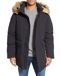 Schott NYC Iceberg Water Resistant Down Parka With Faux Fur Trim
