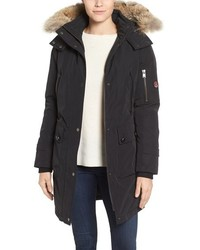 Pendleton Jackson Hooded Down Parka With Genuine Coyote Fur Trim