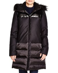 Theory Korrine Fur Trim Parka