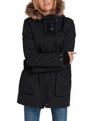 Volcom Less Is More 5k Faux Water Resistant Hooded Parka