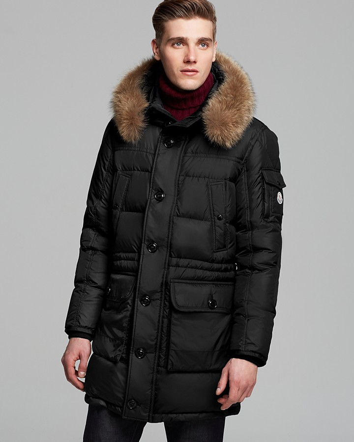 moncler affton down parka with fur hood where to buy. Black Bedroom Furniture Sets. Home Design Ideas
