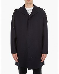 Lanvin Navy Wool Bound Seam Parka