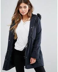 Lee Parka Jacket With Faux Fur Hood