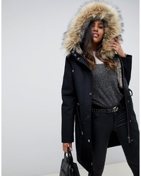 ASOS DESIGN Parka With Detachable Faux Fur Liner
