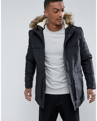 ONLY & SONS Parka With Faux Fur Hood