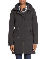 Tumi Tech Luxe Soft Shell Parka With Inset Hooded Down Bib