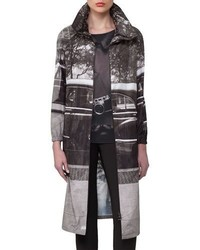 Akris Three Long Parka Black