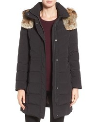 Cole Haan Water Repellent Down Parka With Faux Fur Trim