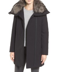 Derek Lam 10 Crosby Water Resistant Down Parka With Genuine Fox Fur Collar