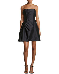 Monique Lhuillier Ml Strapless Cocktail Dress With Pickup Skirt