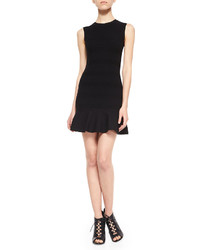 RED Valentino Sleeveless Knit Flounce Dress