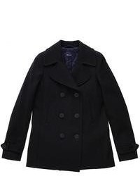 Black pea coat original 1438539