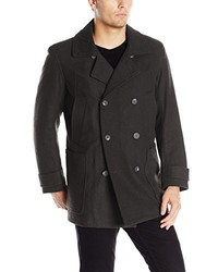Andrew Marc Marc New York By Mulberry Wool Peacoat With Removable Bib