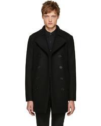 0b9eec21a68 Men's Black Pea Coats by Saint Laurent | Men's Fashion | Lookastic.com
