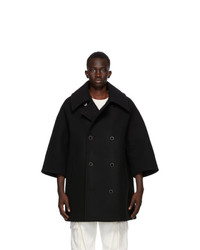 Fumito Ganryu Black Vintage Modern Coat