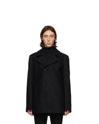 Hugo Black Wool Balno Peacoat