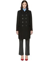 Dsquared2 Black Wool Kathleen Peacoat