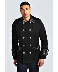 Boohoo Military Pea Coat