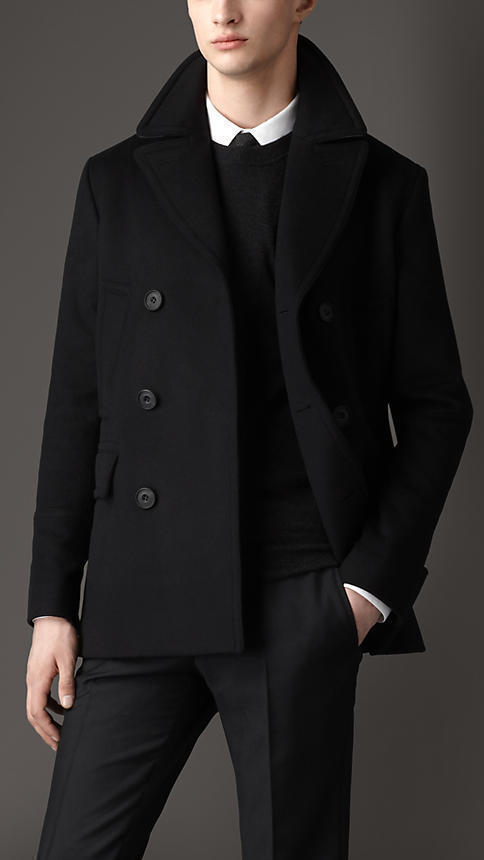 limited price another chance official site $1,595, Burberry Virgin Wool Cashmere Pea Coat