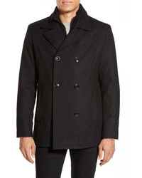 Kenneth Cole Reaction Classic Peacoat With Knit Bib Lining