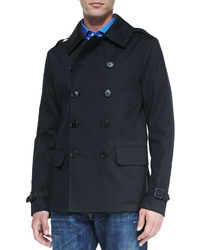 Ralph Lauren Black Label Double Breasted Pea Coat Black